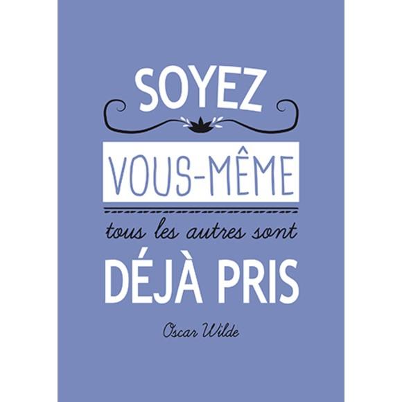 Carte écriture typographique Soyez violette 15x21cm