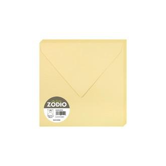 CLAIREFONTAINE - 20 Enveloppes Brume dorée 165x165 Gommée