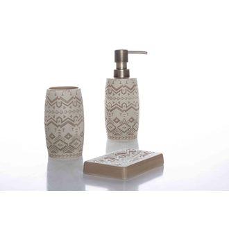 Distributeur de savon en faience avec relief Spirit