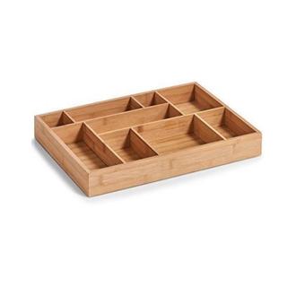 Organiseur de tiroir avec 9 compartiments en bambou 44,5x32x5