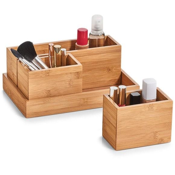 Organizer per cassetti in bamboo, 4 pezzi