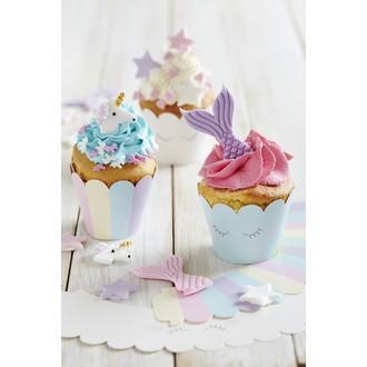 Caissettes à cupcakes assorties licorne 6 pièces
