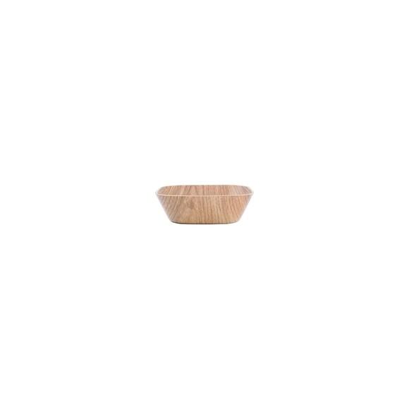 Ciotola quadrata in legno 14x14x5cm