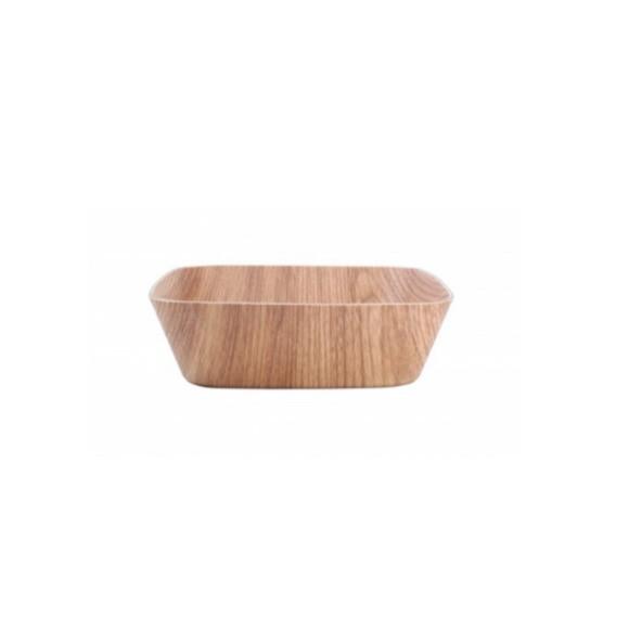 Achat en ligne saladier carré en bois 24,5x24,5x6cm