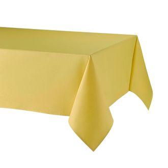 Nappe enduite 100% lin jaune 150x200cm