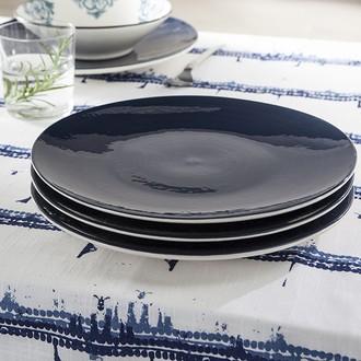 Assiette plate indigo 27,5cm