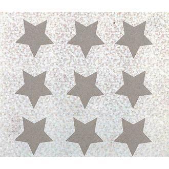 RICO - 9 écussons étoiles thermocollants argent 1,9x1,9mm
