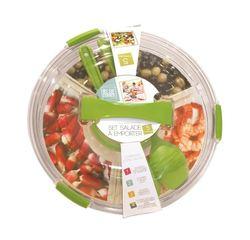 compra en línea Kit de ensaladera con tapa y cubiertos de plástico para llevar