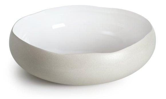 Achat en ligne Coupelle Oslo lin mat brillant 27x27x9cm