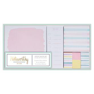 Set de notes adhésives pastel