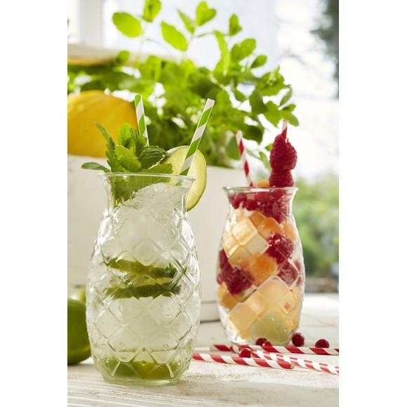 Chope en verre transparent ananas 53 cl