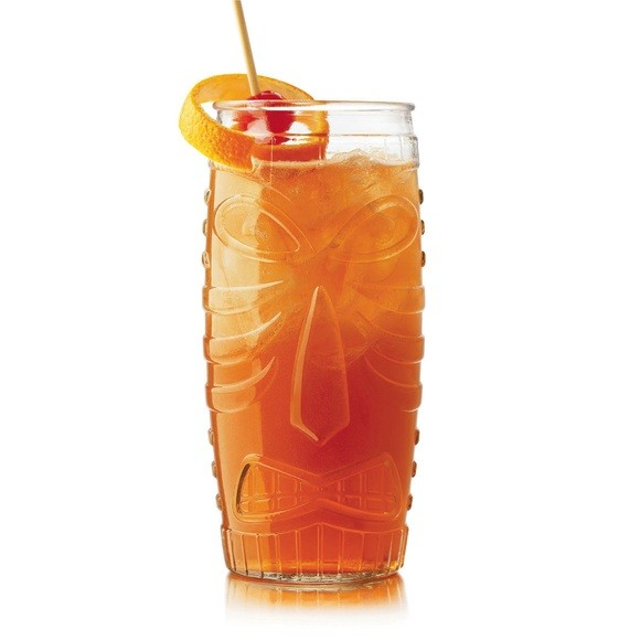 Chope en verre transparent Tiki 59cl