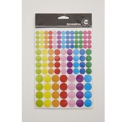 acquista online Adesivi rotondi colorati, diametri assortiti 348 pz.