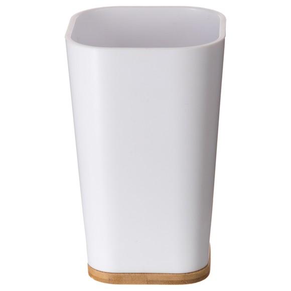 Gobelet blanc et bambou