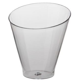 25 gobelets rond transparent Diagonal 7cl