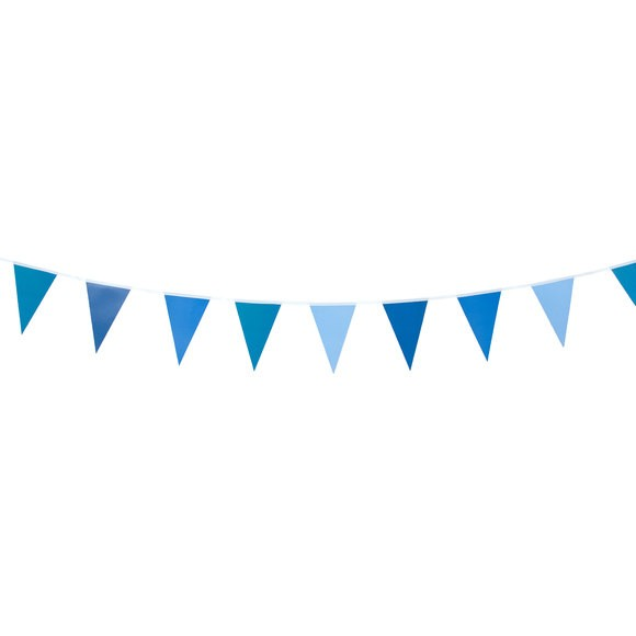 Guirlande fanion bleu 2m