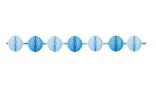 Achat en ligne Guirlande mini boules alvéolées bleues 3m