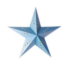 Achat en ligne Lanterne étoile bleu glacier 60cm