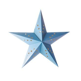 Lanterne étoile bleu glacier 60cm
