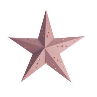 Lanterne étoile rose glacier 60cm