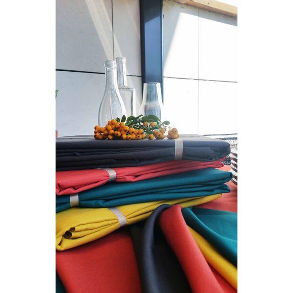 acquista online Tovaglia antimacchia quadrata in cotone, blu petrolio, 150x150 cm