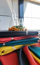Achat en ligne Nappe antitache 150x250cm en coton gris zinc