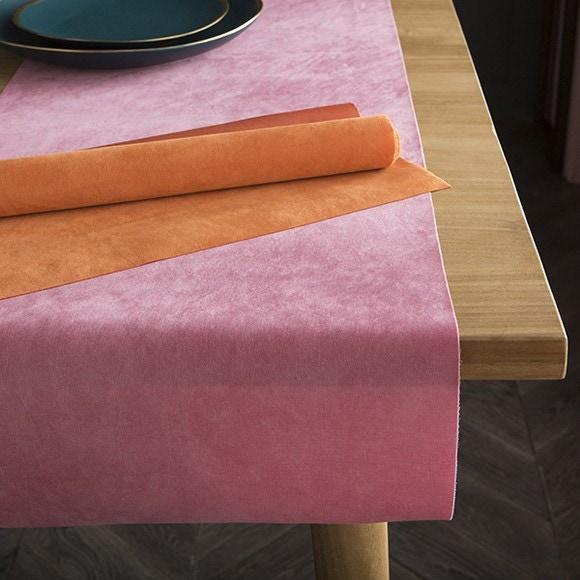 Chemin de table velvet velours rose fuschia 2,5x28cm