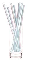 Achat en ligne Set 10 pailles irisées pastel