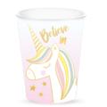 10 gobelets en carton believe in unicorn 25cl