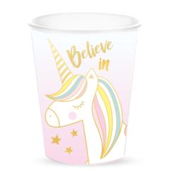 acquista online Bicchieri di cartone unicorno 25cl, 10 pz