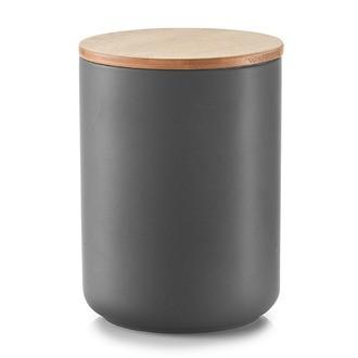 Bocal en céramique avec couvercle en bambou anthracite 1,5L