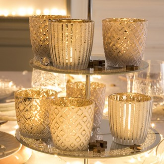 Support bougies chauffes plat en verre anti relief 3 assortis et deux couleurs  rose poudré et blanc