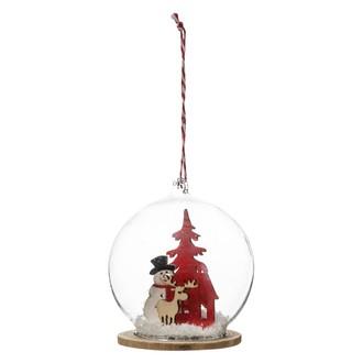Suspension de Noël boule en verre avec sujet