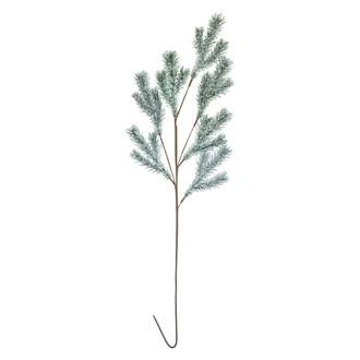 Branche de sapin artificiel vert givré pailleté 86cm