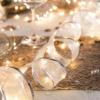 Guirlande lumineuse intérieure ruban à led blanc chaud
