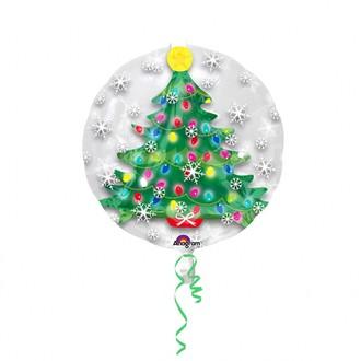 Ballon hélium sapin de noël