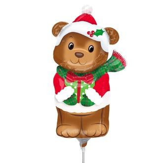 Mini-ballon hélium déjà gonflé ours mignon