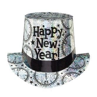 Chapeau haut de forme happy new year