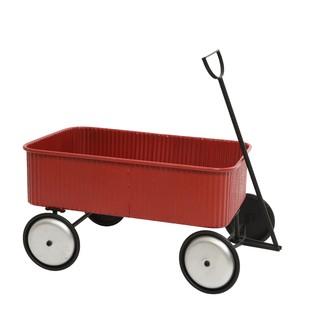 Chariot en métal  rouge à tirer pour enfant