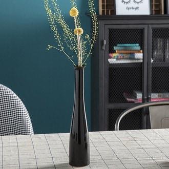 Soliflore céramique noir ø6xh32cm