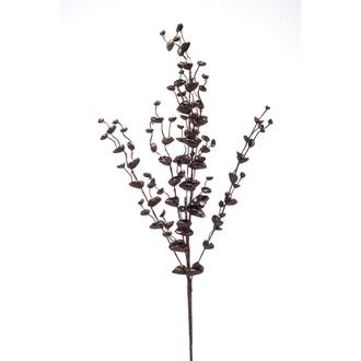 Branche artificielle d'eucalyptus ramifié bronze 85cm