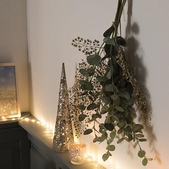 Branche artificielle d'eucalyptus vert grisé 87cm