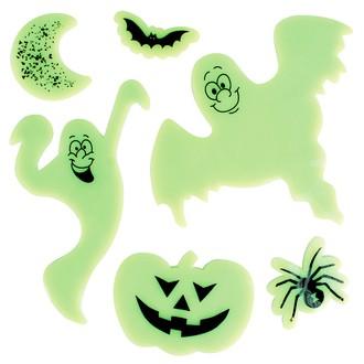 Formes Halloween gel phosphorescent pour vitres