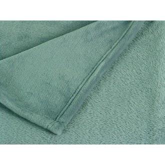 ZODIO- Plaid tout doux XL Castor vert scandinave 150x200cm