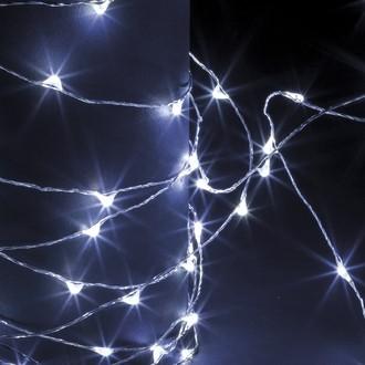 Guirlande lumineuse extérieur chromé 100 microled blanc froid 10m