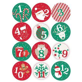 24 stickers chiffres rond traditionnel enfant 4cm