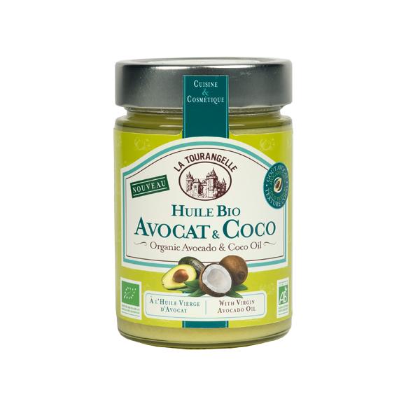 Huile d'avocat et noix de coco bio 314ml