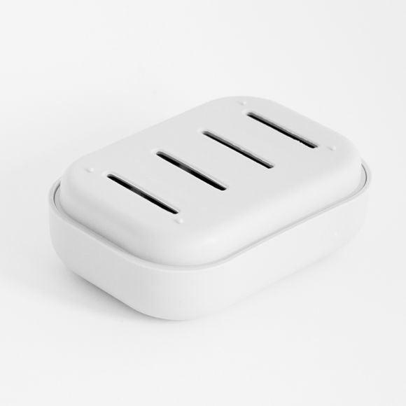 975cb061065456 Boite à savon en plastique ajouré blanc Pas cher - Zôdio
