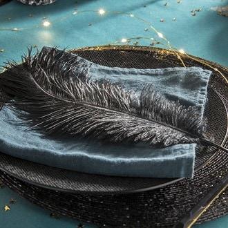 1 plume noire 33 cm