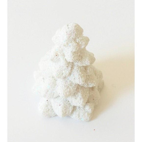 4 petits sapins blancs 2x3cm